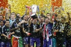 El Sporting de Anderlecht ganó la liga belga hace dos días.