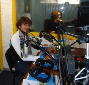 Pablo de la Rasilla en el estudio de Radio Alma