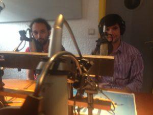 Manuel González y Jesús López, de la Asociación popular española de Bélgica