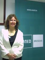 Olga Lutz, directora en funciones de la Uned en Bruselas