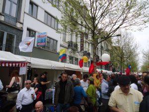 1 de mayo en la Place Rouppe de Bruselas