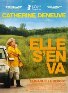 Cartel promocional de la película de Emmanuelle Bercot Elle s'en va, protagonizada por Catherine Deneuve