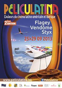 Cartel de promoción de la 2ª edición del festival de cine Peliculatina